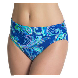 Beach Diva Women's Island Paisley High Wais