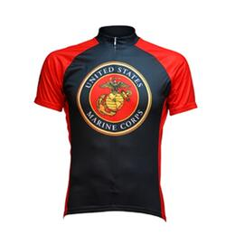 Primal Wear US Marines Emblem Cycling Jersey