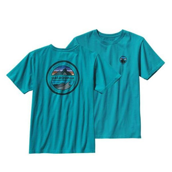 Patagonia Men's Logo Organic Cotton Short Sleeve T-shirt
