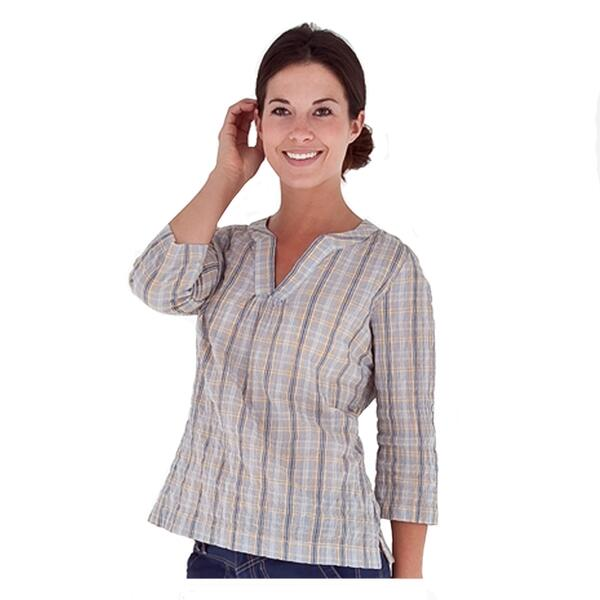 Royal Robbins Women's Peasant Plaid Short Sleeve Pullover