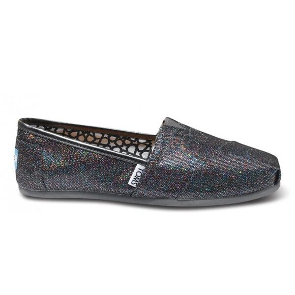 Toms Women's Glitter Classic Casual Slip-ons Shoes