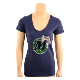 47 Brand Women's Dallas Mavericks Vneck Tee Shirt