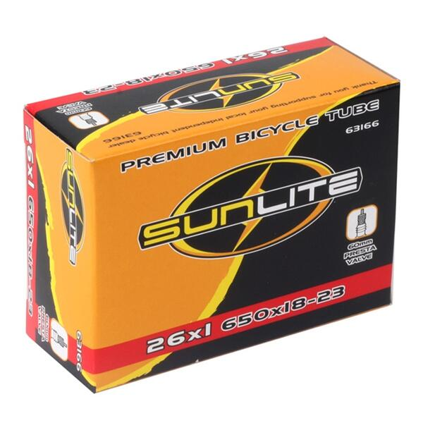 Sunlite 650c 60mm Presta Valve Bicycle Tube