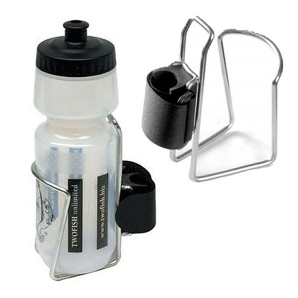 Two Fish Quick Release Bottle Cage w/Bottle