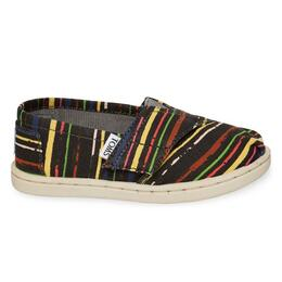 Toms Tiny Multi Stripe Classic Slip On Casual Shoes