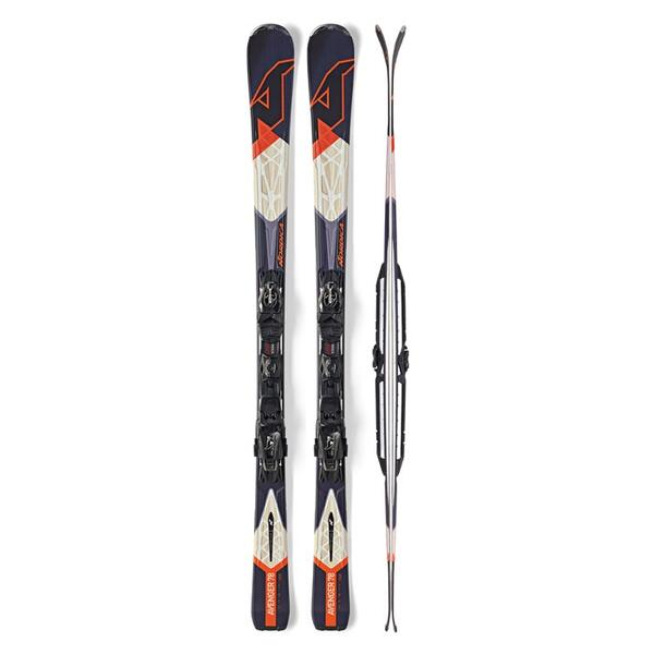 Nordica Men's Avenger 78 All Mountain Skis With P.R. Evo Bindings '15