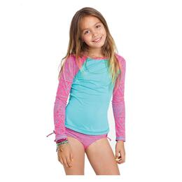 Billabong Girl's Hippie Grom Rashguard And Swim Set