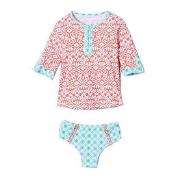 Cabana Life Girl's Coral Seas Set