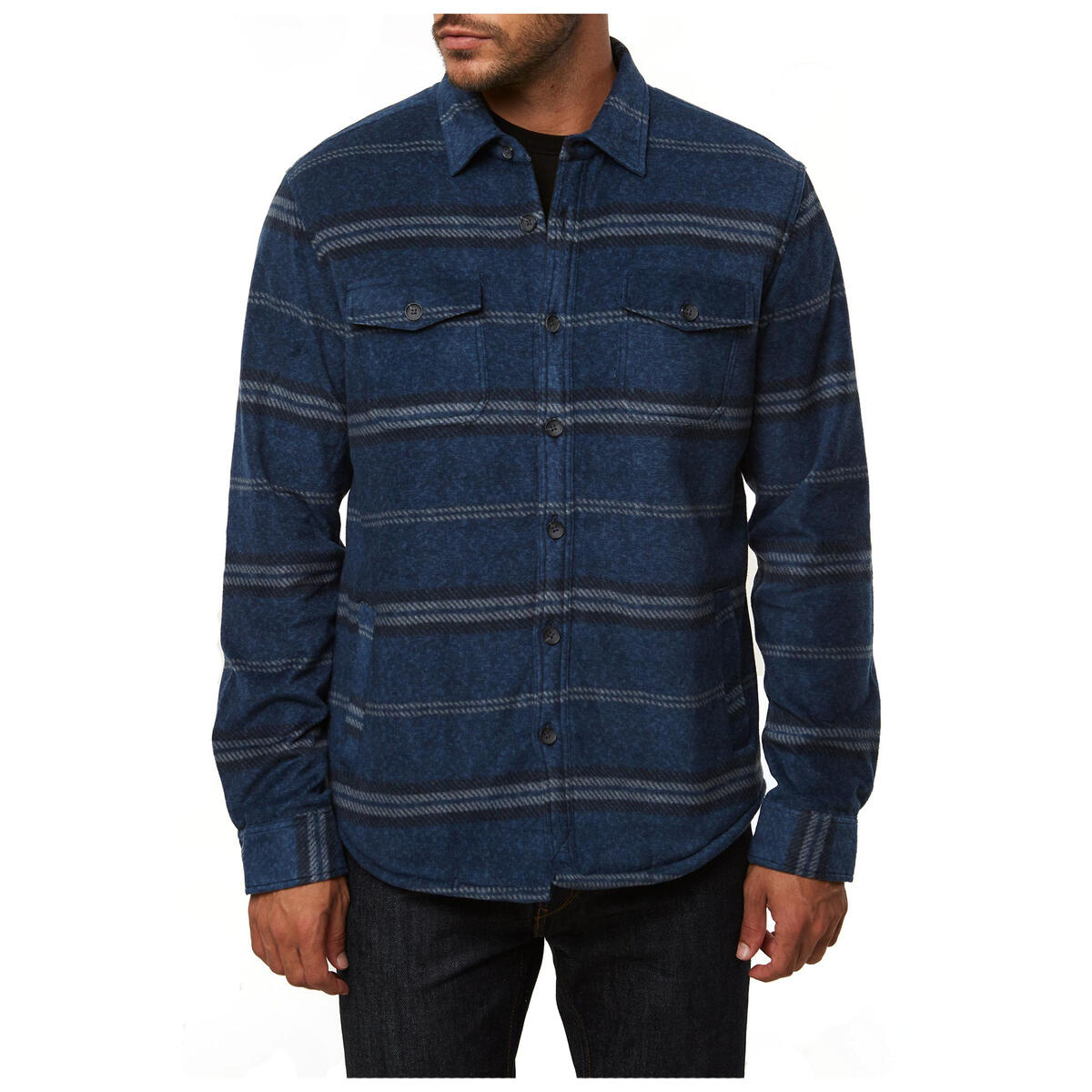 O'neill Men's Glacier Sherpa Lined Lined Button Down Long