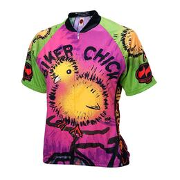 World Jerseys Women's Biker Chick On Bike Cycling Jersey