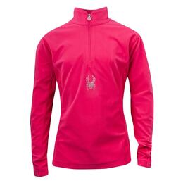 Spyder Girl's Chloe Velour Fleece T-neck