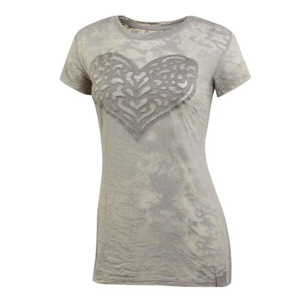 Life Is Good Women's Heart Short Sleeve Topnotch Burnout Tee