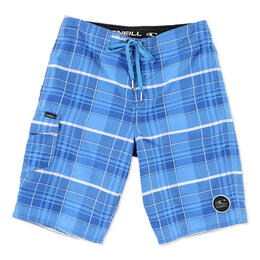 O'Neill Boy's Santa Cruz Plaid Boardshorts