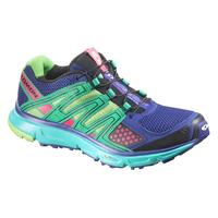 Salomon Women's XR Mission Trail Running Shoes - G Blue/Emerald Green/Pink - 10