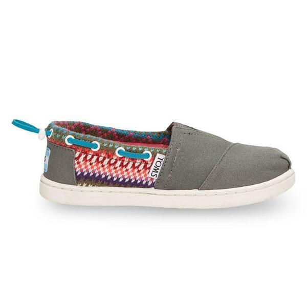Toms Youth Stripe Knit Bimini Casual Shoes