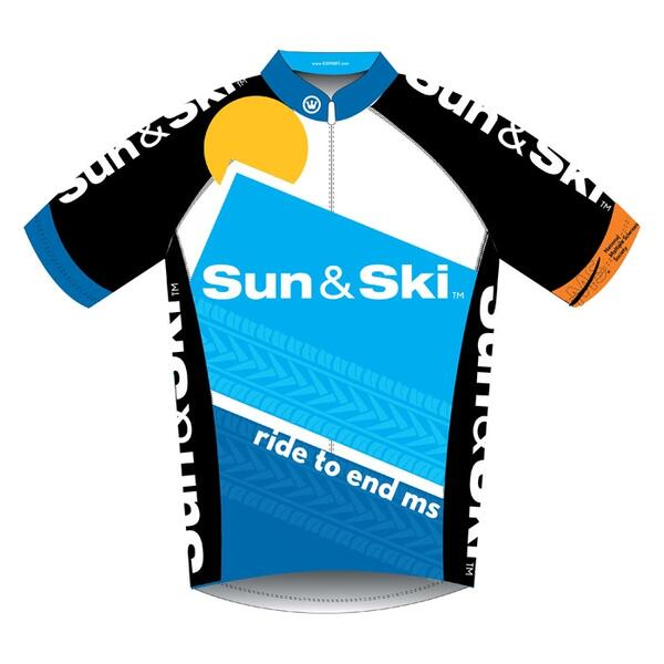 Canari Women's 2013 Bike MS Team Sun & Ski Jersey