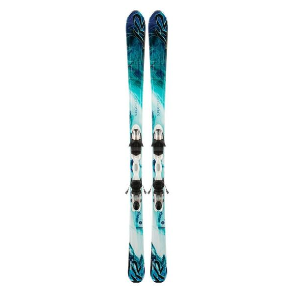 K2 Women's Supersmooth All Mountain Skis with ERP 10 Bindings '14