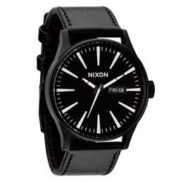 Nixon The Sentry Leather Wrist Watch