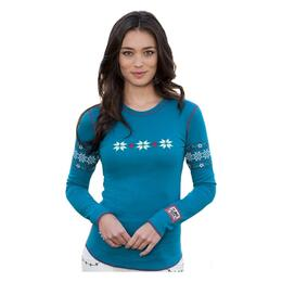 Apl-n-rock Women's Vintage Cross Longsleeve Crew