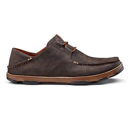 Olukai Men's Ohana Lace-Up Nubuck Leather Shoes