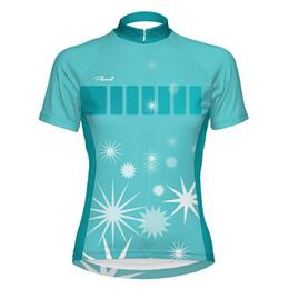 Primal Wear Women's Delite Blue Cycling Jersey