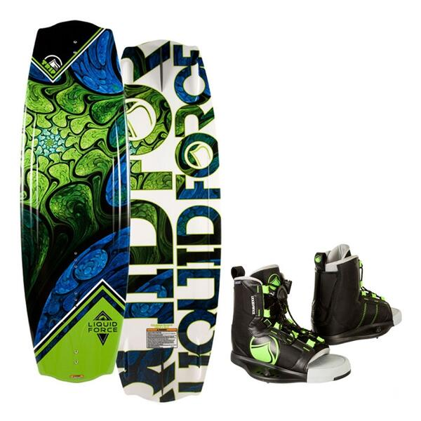 Liquid Force Men's Trip Wakeboard w/ Index Bindings