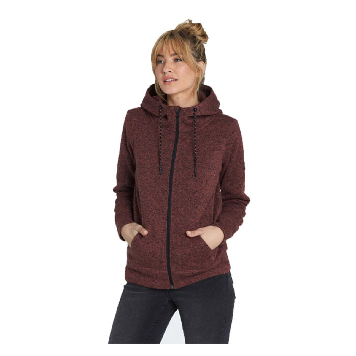 Billabong Women S Boundary Full Zip Hooded Fleece Winter