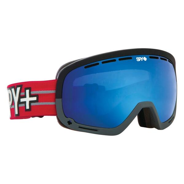 Spy Louie Vito Marshall Flight Strap Goggles with Blue Contact Lens