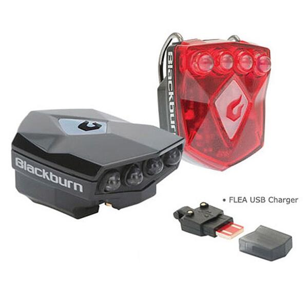 Blackburn Flea 2.0 USB Front & Rear Combo Bicycle Light