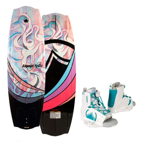 Liquid Force Women's Angel Wakeboard w/ Plush Bindings '14