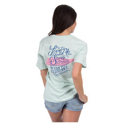 Back of Lauren James Women's Love Me Some Tennessee Tee Shirt