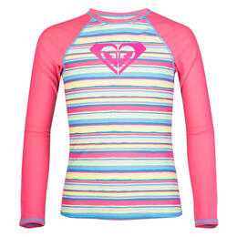 Roxy Girl's Island Tiles Long Sleeve Rashgu
