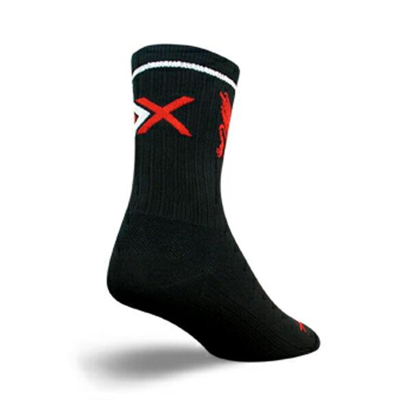 "Sock Guy SGX 5"" Black/Griffin Cycling Socks"