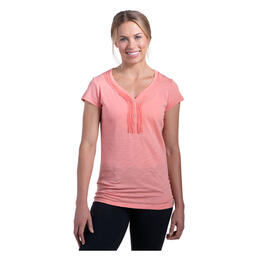 Kuhl Women's Vega Henley Short Sleeve Shirt