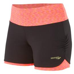 "Saucony Women's Ruched LX 4"" Running Shorts"