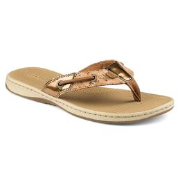 Sperry Women's Seafish Metallic Flecked Cork Casual Sandals