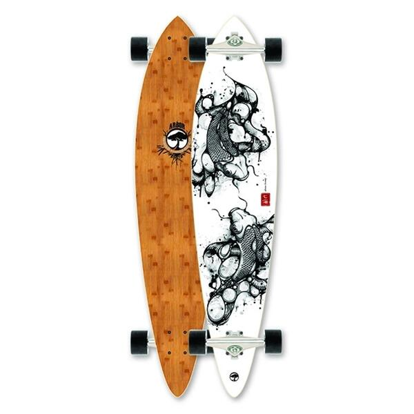 Arbor skateboards fish bamboo carver longboard 39 13 sun for Arbor fish longboard