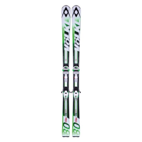 Volkl Men's RTM 80 All Mountain Skis with iPT Wide Ride 12 Bindings '14