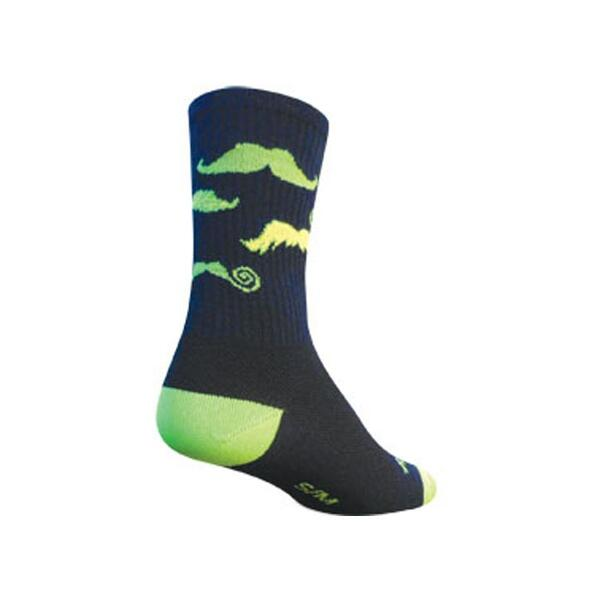 Sock Guy Mustache Crew Cycling Socks