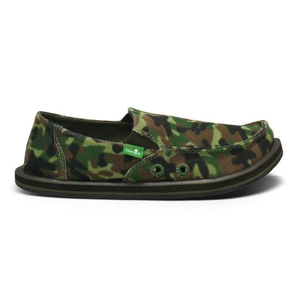 Sanuk Boy's Youth Army Brat Slip-ons