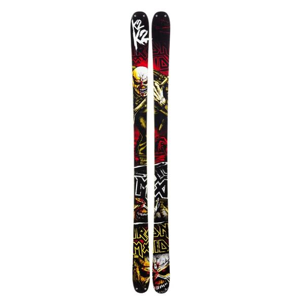 K2 Men's Iron Maiden Factory Team Twin Tip Skis '13 - Flat