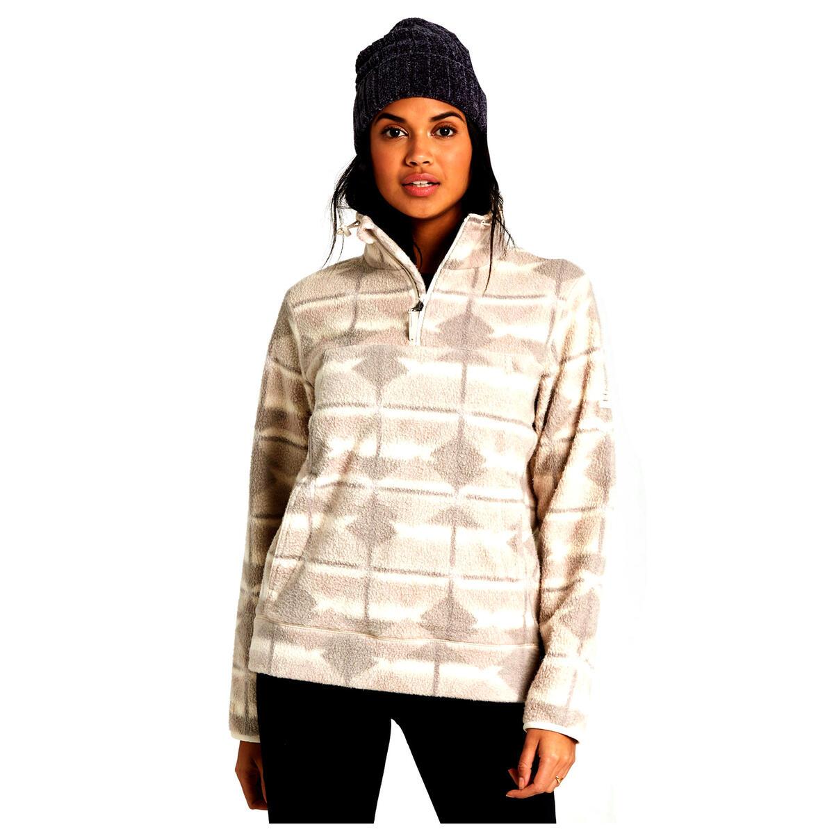Billabong Women S Boundary Mock Neck Fleece Sweater Sun
