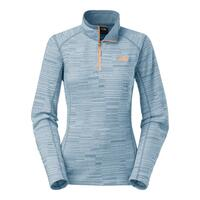 The North Face Women's Glacier Stria Print 1/4 Zip Fleece Jacket