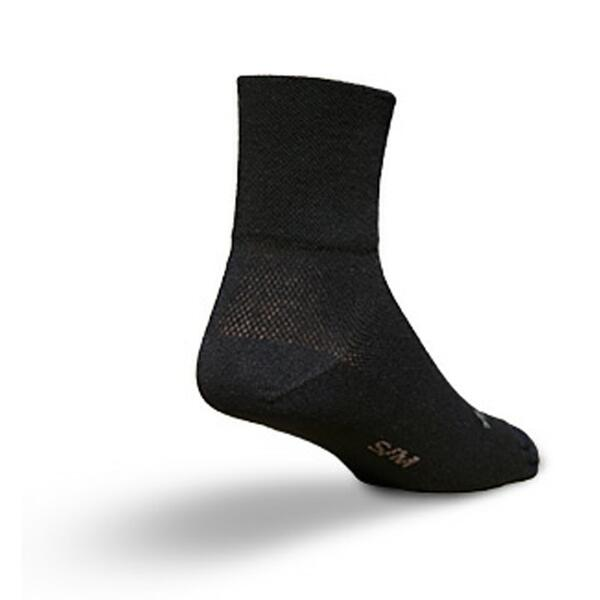 Sock Guy 3 Inch Black Cycling Socks