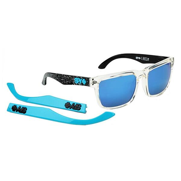 Spy Helm Block Sunglasses With Blue Spectra Lenses