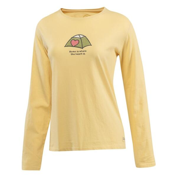 Life Is Good Women's Heart Tent Crusher Long Sleeve Tee