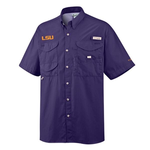 Columbia Sportswear Collegiate Bonehead Lsu Short Sleeve Shirt