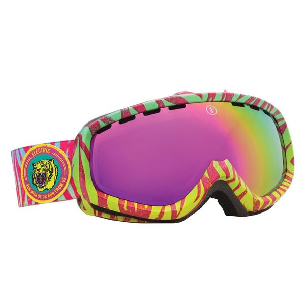 Electric Youth EGK Snow Goggles with Bronze/Pink Chrome Lens