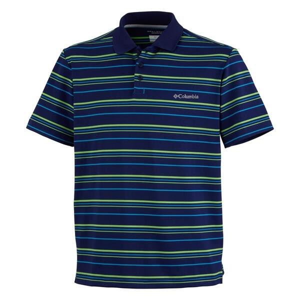 Columbia Sportswear Men's Big Smoke Stripe Short Sleeve Polo