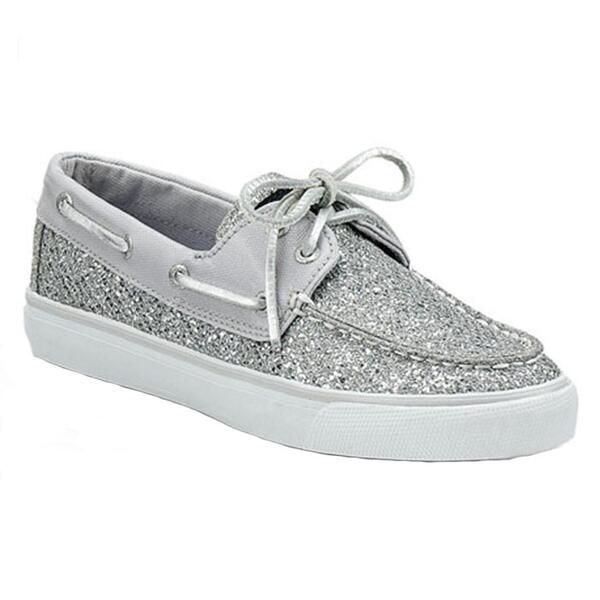 Sperry Women's Bahama Glitter Slip-on Boat Shoe